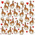 Giraffe & Hearts Pattern  by BrianUK