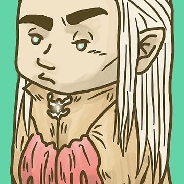 Tiny Annoyed Elven King by inogart