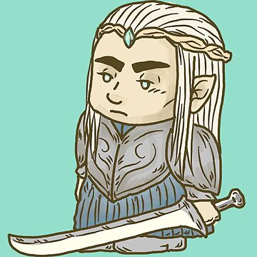 The Tiny Elven Warrior King by inogart