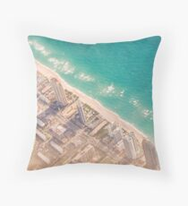 miami from the air Throw Pillow