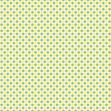 Lemon Lime Fruit Pattern by ValeriesGallery