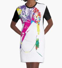 Inspired by David Bowie Graphic T-Shirt Dress