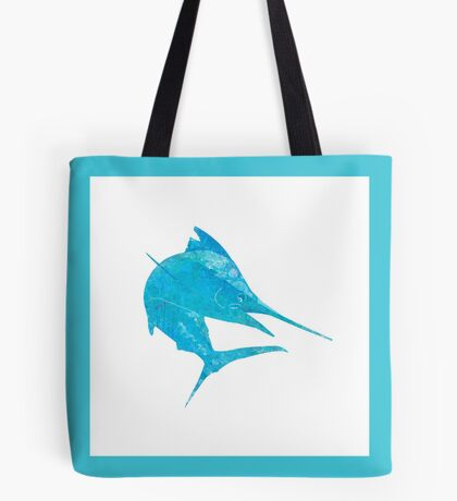 Mosaic Marlin / Watercolour Effect (Print) - Light Tote Bag