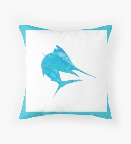 Mosaic Marlin / Watercolour Effect (Print) - Light Throw Pillow