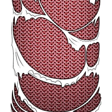 Pink chainmail armor  by pattypattern