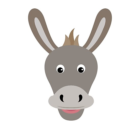 Quot Happy Donkey Face Cartoon Character Quot Photographic Prints