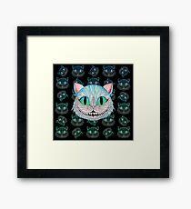 Cheshire Cat (Dark background) Framed Print