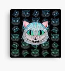 Cheshire Cat (Dark background) Canvas Print