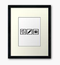 Journalist equipment Framed Print