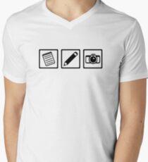 Journalist equipment Men's V-Neck T-Shirt