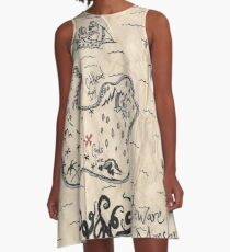 The Treasure Map A-Line Dress