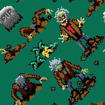 Zombies Ate My Neighbors SNES (zombie pattern) by danteartist