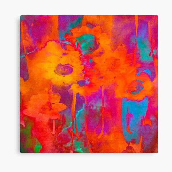 vibrant bouquet abstrait/bright abstract bouquet Canvas Print