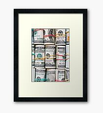 MONEY AND MONEY Framed Print