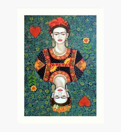 Frida, queen of Hearts Art Print