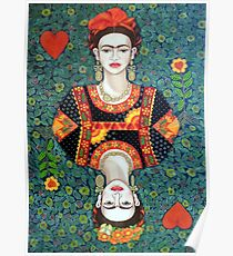 Frida, queen of Hearts Poster