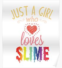 slime girl posters redbubble