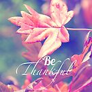 Be Thankful by cycreation