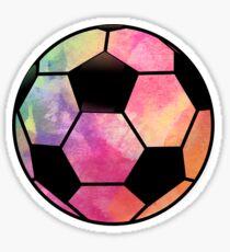 Soccer Ball Watercolor - Cool Soccer Sticker T-Shirt Pillow Sticker
