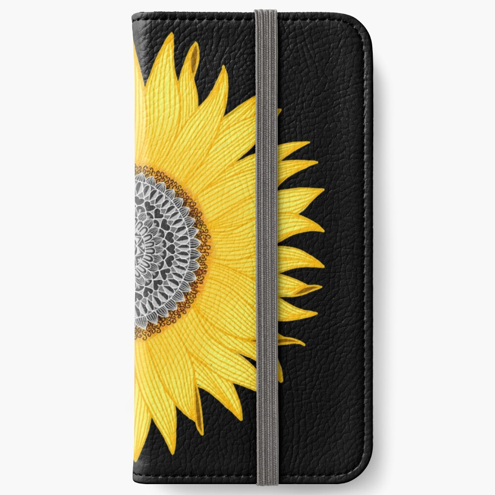 Mandala Sunflower iPhone Wallet