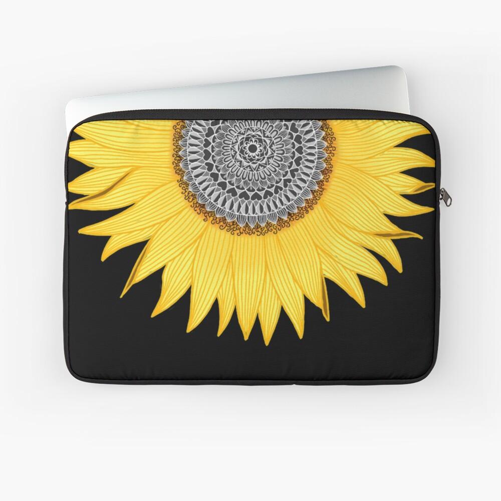 Mandala Sunflower Funda para portátil