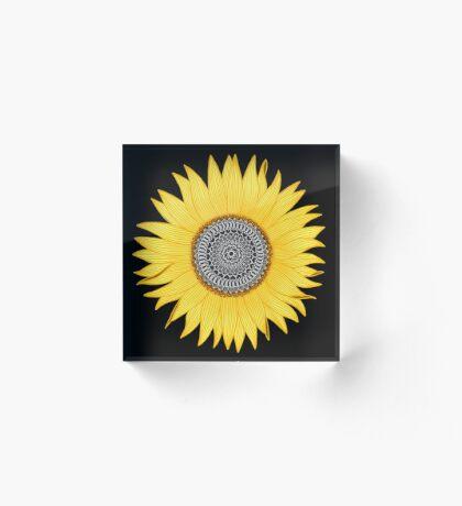 Mandala Sunflower Acrylic Block