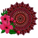 Red Hibiscus Mandala by paviash