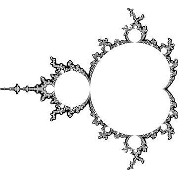 Monochrome Outline Mandelbrot Set by rupertrussell