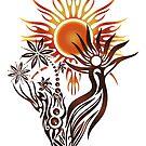 Sonnengott. Pagan Wicca Art. von Christine Krahl