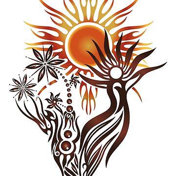 Sonnengott. Pagan Wicca Art. von ChristineKrahl
