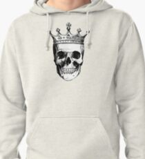 Skull King | Black and White Pullover Hoodie