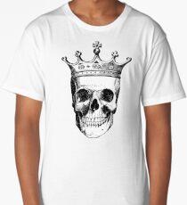 Skull King | Black and White Long T-Shirt