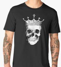 Skull King | Black and White Men's Premium T-Shirt
