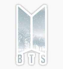 BTS LOGO SNOW WINTER CHRISTMAS Sticker