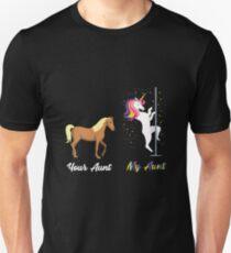 Your Aunt My Aunt Cute Horse Unicorn  Unisex T-Shirt