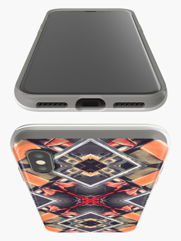 Alternate view of Orange Automotive Abstract iPhone Cases & Covers