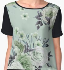 Vintage Flower Design 3 Chiffon Top