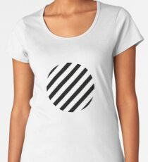 sloping stripes, black and white Women's Premium T-Shirt