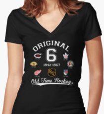 Original Six Women's Fitted V-Neck T-Shirt