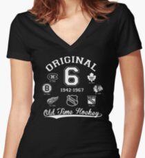 Original 6 Women's Fitted V-Neck T-Shirt