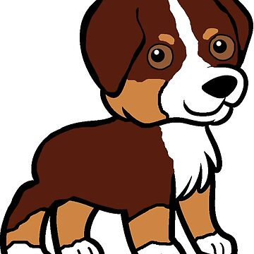 miniature american shepherd red tri cartoon by marasdaughter