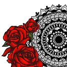 Red rose mandala by paviash