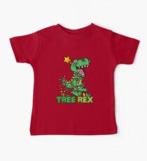 Tree Rex Dinosaur Christmas Design Baby Tee