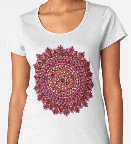 The Red Moon Mandala Premium Scoop T-Shirt