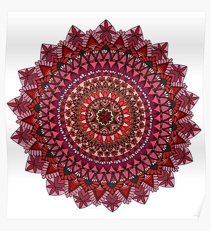 The Red Moon Mandala Poster