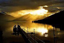Lake Te Anau at sunset. South Island, New Zealand. (5) by Ralph de Zilva