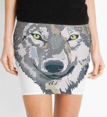 Wolf Design Mini Skirt