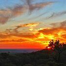 Sunset looking west over Hughenden by Paul Gilbert