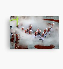 The Texas Longhorns Take The Field Canvas Print