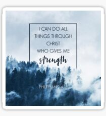Forest Philippians 4:13 Sticker